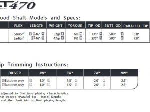 Aerotech ALT 470 Wood Shafts