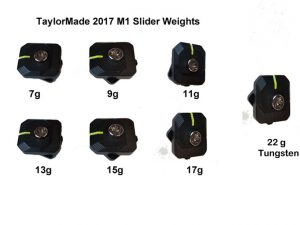 TaylorMade M1 (2017) Slider Head Weights (Driver Only) weights sold separately