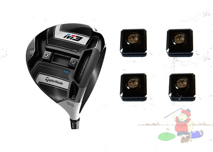 TaylorMade M3 (2018) Head Weights (weights sold separately) Driver Only